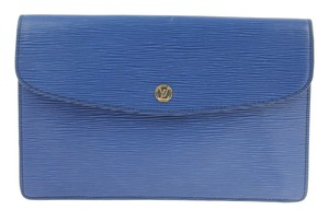 Louis Vuitton Epi Leather Toledo Blue Clutch