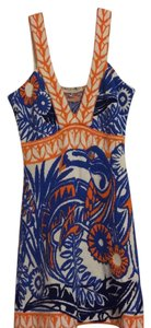 Emilio Pucci short dress Multi colored - orange, blue and white on Tradesy