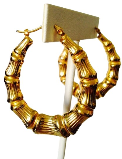 Other Gold-Tone Large Bamboo Hoop Earrings