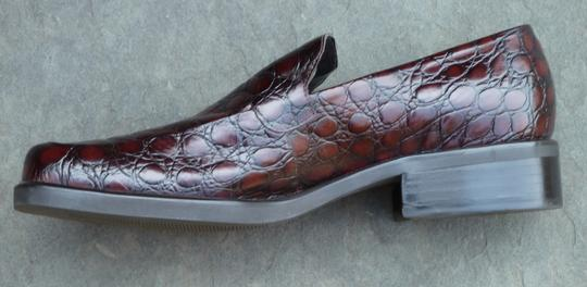 Franco Sarto Crocodile Size 9.5 New Brown Flats