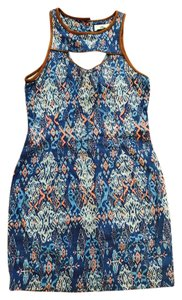 DV by Dolce Vita short dress Orange and blue pattern on Tradesy