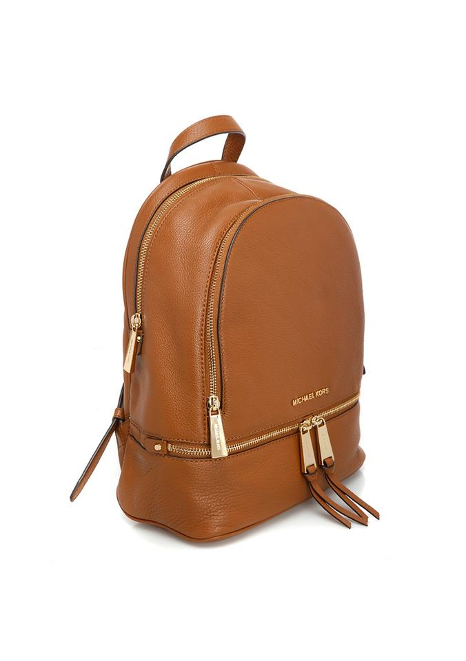 748dcbea8e ... Michael Kors Rhea Zip Medium Travel School Brown Leather Bac exquisite  design 86584 1b082 ... Handmade Ethiopian Leather Backpack ...