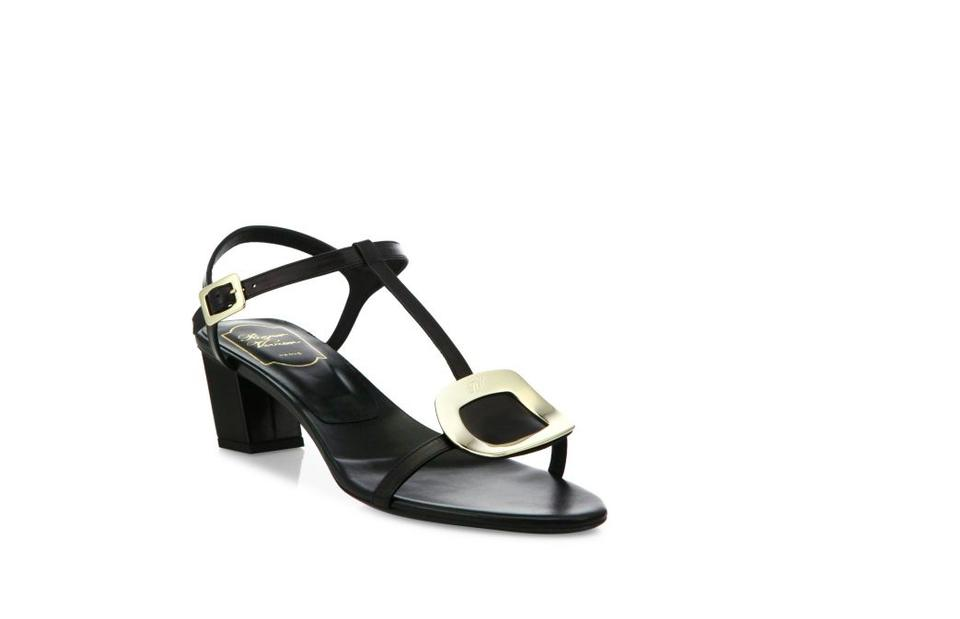 951f830783fd80 Roger Vivier Black and White New In Box Silver 38.5 Sandals Size US ...