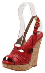 Chloe Heels Pumps Red Wedges