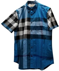 Burberry T Shirt Lupin Blue Check