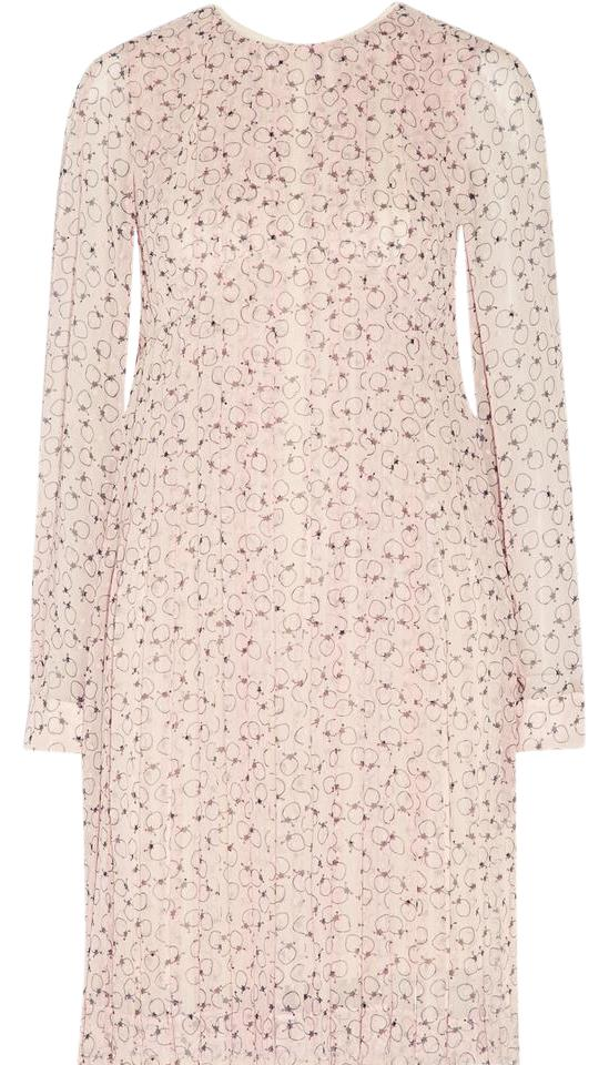 3e3c6af8e See by Chloé Pink and Cream Strawberry Printed Fil Coupe Chiffon Mid ...