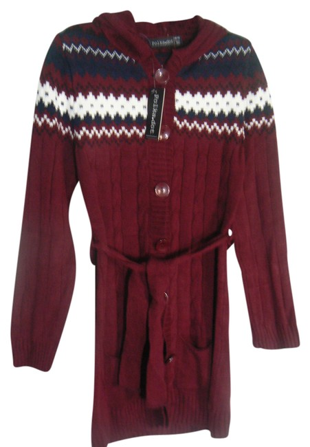 Preload https://img-static.tradesy.com/item/2177239/maroon-with-blue-and-white-tie-front-hooded-cardigan-size-os-one-size-0-2-650-650.jpg