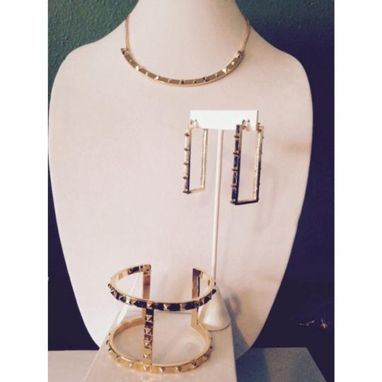 Vince Camuto Vince Camuto Gold-Tone Rectangle Spike Long Earrings Only! Matching Pieces Sold Seperately.