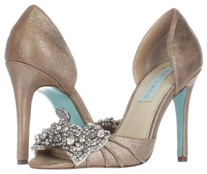 Betsey Johnson Silver Pumps