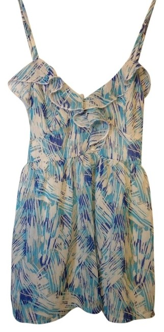 Kirra Urban Outfitters Top White/blues