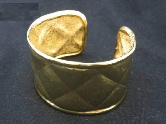 Chanel sold 4/4/18 Lm ST Quilted Gold Cuff 220565
