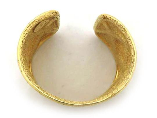 Chanel Quilted Gold Cuff 220565