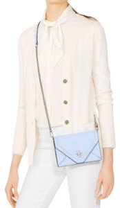 Tory Burch Mini Flap Turnlock Chambray Cross Body Bag