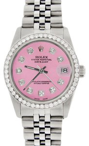 Rolex Rolex Datejust 31mm Jubilee Women's Watch w/Pink Dial & Diamond Bezel