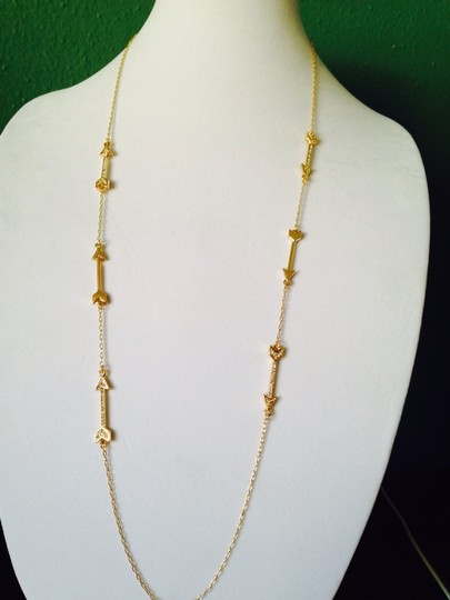 Bella Jack Gold-Tone & Crystal Arrow & Chain Long Necklace