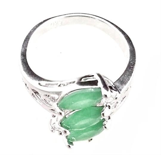 Other Natural Green EMERALD GEMSTONE 925 STERLING SILVER RING JEWELRY size 6.5