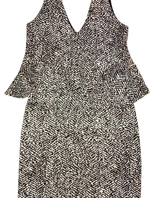 H&M Peplum Low Cut Top and Pencil Mini Skirt Set Short Night Out Dress Size 4 (S) H&M Peplum Low Cut Top and Pencil Mini Skirt Set Short Night Out Dress Size 4 (S) Image 1
