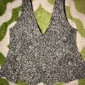 H&M Peplum Low Cut Top and Pencil Mini Skirt Set Short Night Out Dress Size 4 (S) H&M Peplum Low Cut Top and Pencil Mini Skirt Set Short Night Out Dress Size 4 (S) Image 3