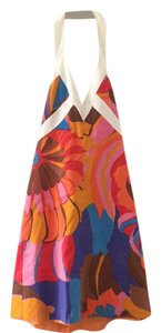 Trina Turk short dress red, orange, pink, yellow, brown swirl pattern on Tradesy