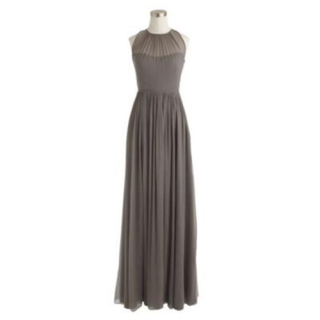 Item - Grey / Graphite Silk Chiffon Megan Formal Bridesmaid/Mob Dress Size 2 (XS)
