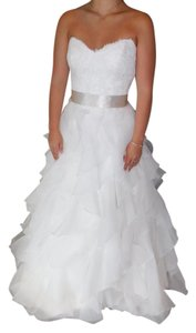 Paloma Blanca Natural/Latte 4363 Wedding Dress Size 8 (M)
