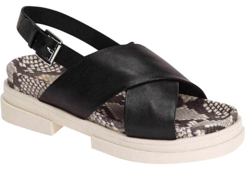 03beacdbed9 Ash Black and White Sue Platform Sandals Size EU 38 (Approx. US 8 ...