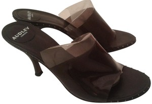 Audley London Design Made In Spain High Heel Leather & Pvc black Sandals