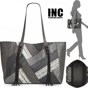 INC International Concepts Tote in black/grey