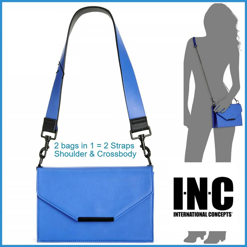 INC International Concepts Yvonn with Interchangeable Straps Yellow Lime  Faux Leather Cross Body Bag 59% off retail
