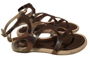 Jimmy Choo #gladiator #espadrilles Bronze Sandals