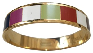 Coach Coach Signature Striped Bangle