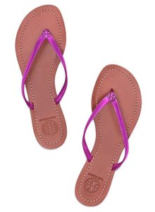 Tory Burch Summer Flip Flop Purple Thong magenta Sandals