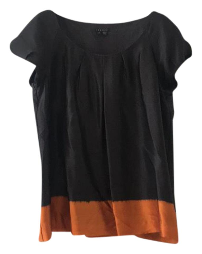 657a8547c4178 Theory Silk Color Blocked Blouse Size 8 (M) - Tradesy