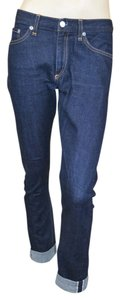 Rag & Bone Denim Drop Crotch Skinny Edgy Straight Leg Jeans-Dark Rinse