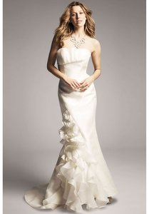 Anne Barge Pearl Silk Reilly Destination Wedding Dress Size 4 (S)