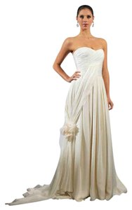 Anne Barge Ivory Silk Sample Destination Wedding Dress Size 6 (S)