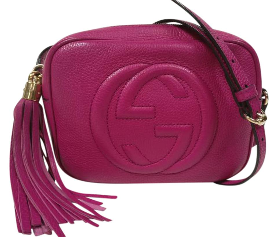 577128bd1019 Gucci Soho Disco Camera Tassel Hot Pink Leather Cross Body Bag - Tradesy
