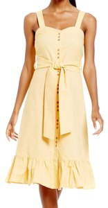 Daniel Cremieux short dress pale yellow on Tradesy