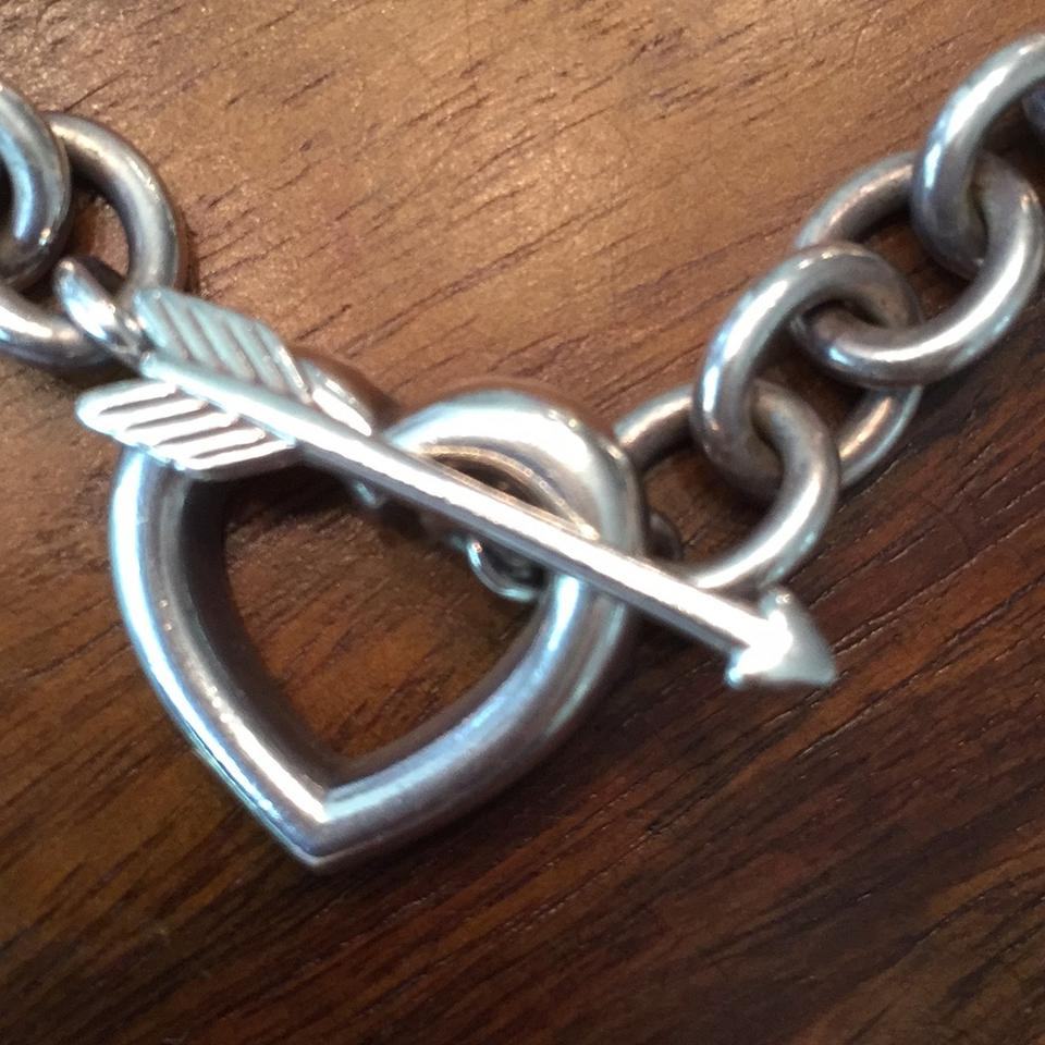 edda3736eb40d Tiffany & Co. Sterling Silver W Rare Arrow Through Heart Toggle Made In  Italy W/ Bag Necklace