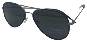 Polaroid POLAROID Sunglasses PLD 1020/S R80 Y2 56-15 Black & Ruthenium Aviator