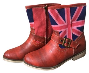 Wanted New Red, British Flag Boots