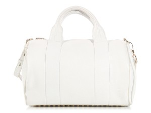 Alexander Wang Aw.l0619.07 Duffle Top Handle Studded Leather Satchel in White