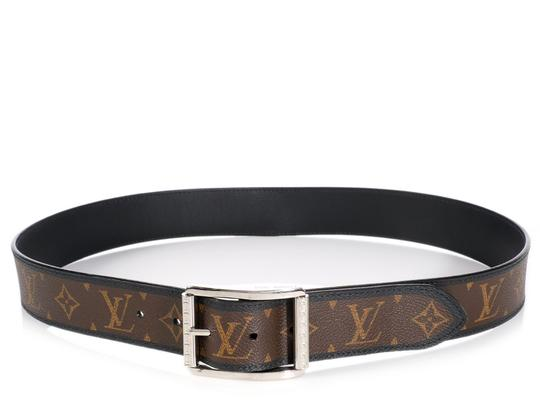Preload https://item5.tradesy.com/images/louis-vuitton-brown-and-black-monogram-and-leather-reversible-reverso-belt-21776609-0-0.jpg?width=440&height=440