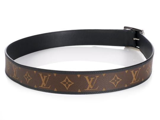 Louis Vuitton Monogram & Leather Reversible Reverso Belt