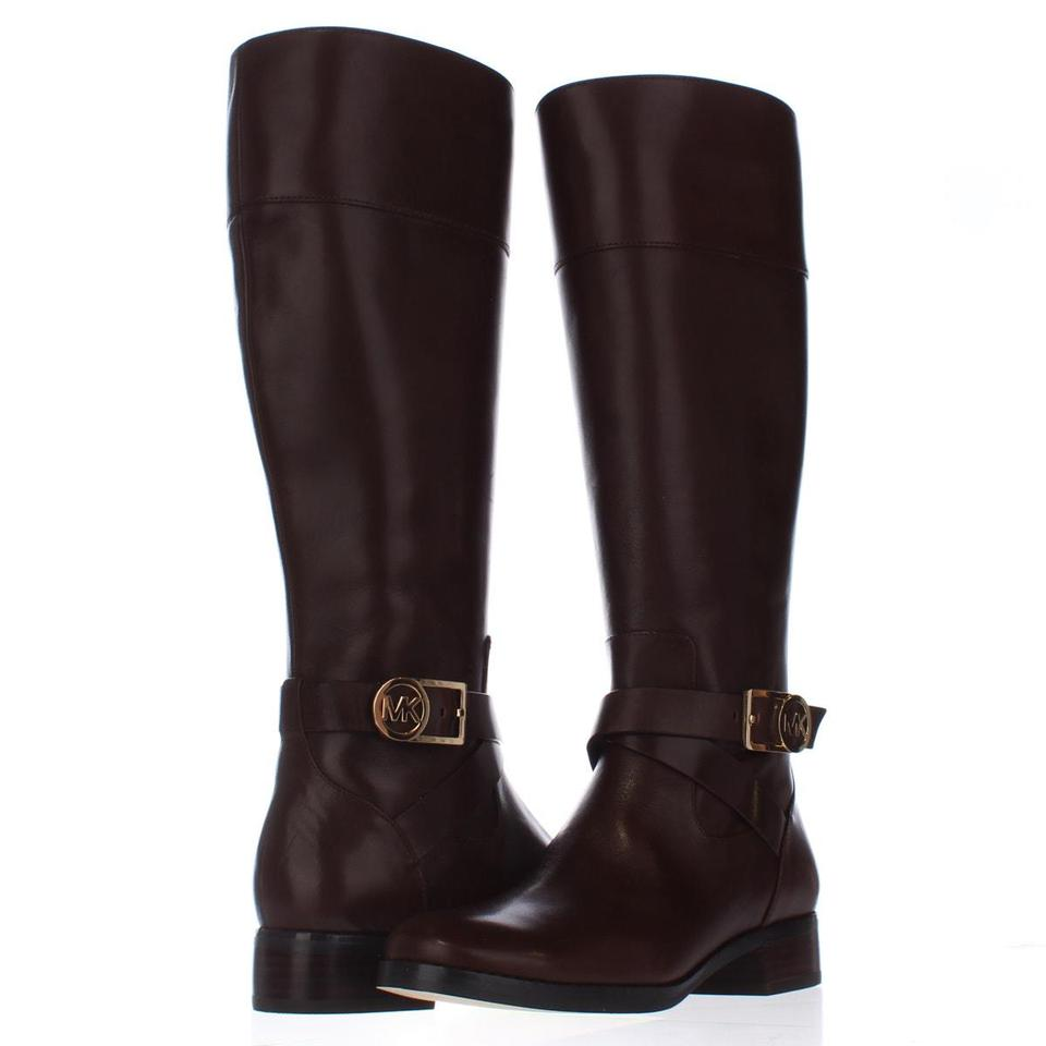 michael kors michael bryce tall riding mocha 6 5 us brown boots on sale 46 off boots. Black Bedroom Furniture Sets. Home Design Ideas