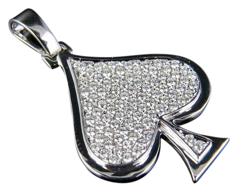 Jewelry unlimited 14k white gold diamond iced ace spade pendant 075 jewelry unlimited 14k white gold diamond iced ace spade pendant 075 ct 15 aloadofball Image collections