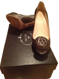 Prada Grey rosette Pumps