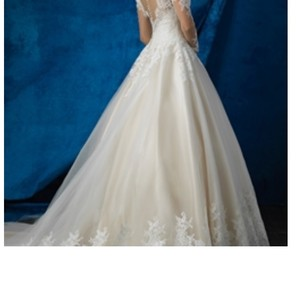 Allure Bridals White Traditional Wedding Dress Size 8 (M)
