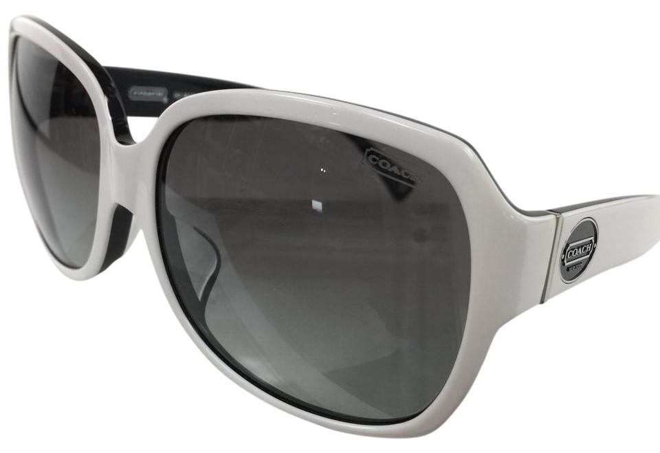 4c988d736e Coach Brand New Oversized Asian Fit Sunglasses Briget White Black Logo On  Temple Image 0 ...