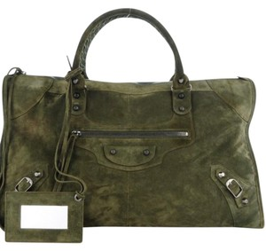 Balenciaga Tote in Military Green